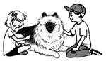 Illustration of Fozzie sitting with two kids.